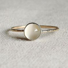 Moon stone ring...simple but so pretty                                                                                                                                                     More