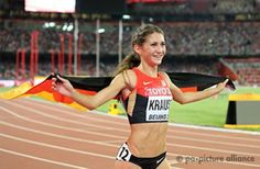 Gesa Felizitas Krause holt mit dem Rennen Ihres Lebens Bronze in Beijing 2015 Team Toyota, Athletics, Bronze, Life, Wedding Ring, Role Models, Athlete