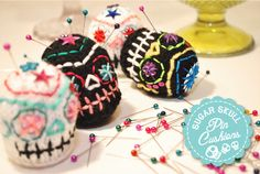 I'm going to actually use these lil faces and make sugar skull easter eggs!