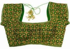 Heavy Work Glitter Blouses | Saree Blouse Patterns