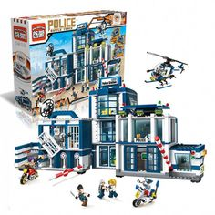 Model building kits compatible with lego city Police Station Helicopter 951 pcs blocks Educational toys hobbies to children Hobby Kids Games, Fun Games For Kids, Kits For Kids, Model Building Kits, Building Toys, Lego Ville, Lego City Police Station, Hobby Electronics Store, Hobby Shops Near Me