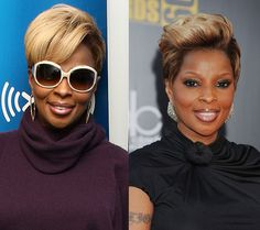 The original fly girl, Mary J. Blige, always rocks a gorgeous do, in this case a super chic cut with blonde highlights-love it! (For bold personalities only pls:)