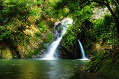 Waterfall jungle Borneo