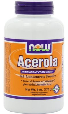 NOW Foods Acerola 4:1 Extract Powder, 6 Ounces