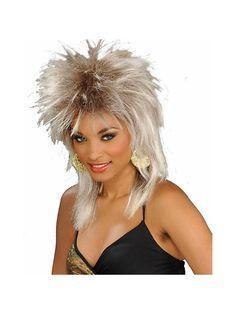 Wigs-Rocker 24606-22 Blonde Unisex Rocker Wig for Adults - Blonde Unisex Rocker Wig for Adults,    #,    #Hats,Wigs