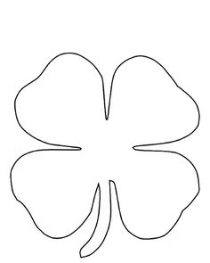 Free St Patricks Day Printables Four Leaf Clover Template Irish