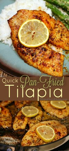 Short On Time, But Not On Taste? This Super Easy And Keto-Friendly Pan-Fried Tilapia Is Filled With An Impressive Punch Of Party In Your Mouth Flavor Quick Pan-Fried Tilapia Mama Harris' Kitchen Seafood Dishes, Seafood Recipes, Dinner Recipes, Cooking Recipes, Healthy Recipes, Talipa Fish Recipes, Food52 Recipes, Fruit Recipes, Pan Fried Tilapia