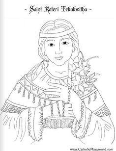 1000 images about girl scout religious awards on for St kateri coloring page