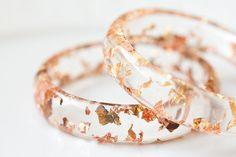 Gold flecked bangles