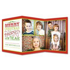 Cheerful Tidings Christmas Z Fold Photo Cards