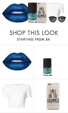 """Untitled #121"" by dancefoxer ❤ liked on Polyvore featuring Lime Crime, Rosetta Getty and Yves Saint Laurent"