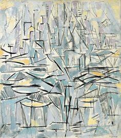 """Composition No. XVI, Compositie 1 (Arbres)"", 1912/13     By: PIET MONDRIAN"