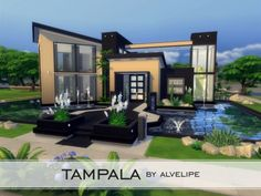 Houses and Lots: Tampala - NO CC by alvelip from The Sims Resource • Sims 4 Downloads