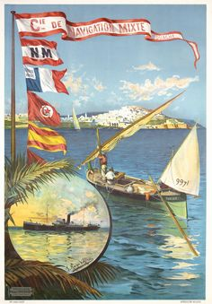 Navigation Mixte (Tanger). ca. 1892. Lithograph. Artist: Frederic-Hugo Alesi (1849-1906).