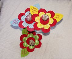 Flower Lollipop Personalized Valentine's Day by BabyBunsDesigns, $8.00-PRESLEY'S VDAY CARDS ORDERED!!!
