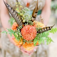 How incredible is this bouquet arranged by the bride's grandmother? So much more goodness in this Montana wedding!