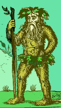 Wild man/green man