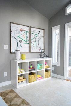From Young House Love - Ikea shelving