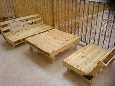 Los muebles de exterior de paléts de Alberto Marti