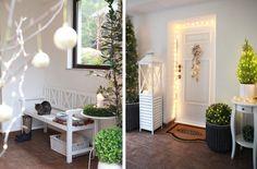 biale-drzwi-wejsciowe-jak-zrobic Canoe, Christmas Time, Oversized Mirror, Green, Furniture, Design, Home Decor, Decoration Home, Room Decor