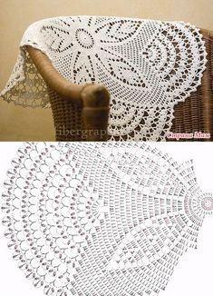 Bildergebnis für mandalas tejidos al crochet patrones Crochet Table Runner Pattern, Free Crochet Doily Patterns, Crochet Tablecloth, Crochet Motif, Crochet Designs, Filet Crochet, Crochet Diagram, Crochet Chart, Thread Crochet