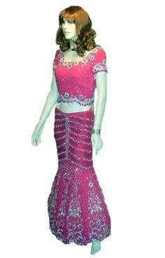 Mermaid Shape Pink Lehnga Choli n Dupatta was designed for miss India Uk Finalist..