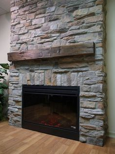 Image result for stone wall with fireplace