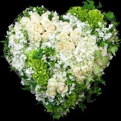 Order Traditions Solid Heart - from Winston Flowers, your local Boston florist. For fresh and fast flower delivery throughout Boston, MA area. Funeral Flower Arrangements, Beautiful Flower Arrangements, Funeral Flowers, Beautiful Flowers, Wedding Flowers, Winston Flowers, Corona Floral, Grave Decorations, Funeral Tributes