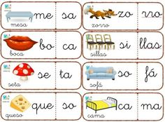 puzzle sílaba Spanish Teaching Resources, Teaching Materials, Bilingual Education, Pre Kindergarten, Home Schooling, Hands On Activities, Pre School, Phonics, Kids Learning