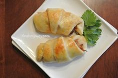 Pulled pork crescents! Great use of leftover pulled pork, use plain crescents and be careful of too sweet of a bbq sauce