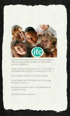 Ifc Interfamilyculture busca familias de acogida.