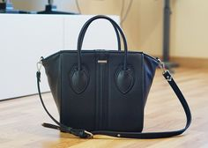 Vegan Bag Obsession: Alexandra K 1.4 Blackberry with should strap
