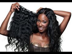 Clip In Human Hair Extensions Brazilian Body Wave Full Head Clip In Hair Hair Extension Type: Clip-InMaterial: Human HairHuman Hair Type: Brazilian Ha Weave Ponytail Hairstyles, Black Hairstyles With Weave, Bob Hairstyles With Bangs, Cool Hairstyles, Haircuts, Best Hair Extensions Brand, Clip In Hair Extensions, Black Hair History, Crochets Braids