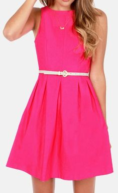 Another classic for V-Day!  The Classy Lass Fuchsia Pink Dress at LuLus.com! #lovelulus #vday
