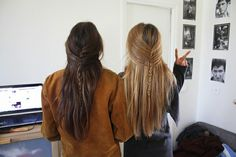 French braid or fishtail sides.