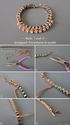 Thanks, I Made It : DIY Suede-Wrapped Rhinestone Bracelet