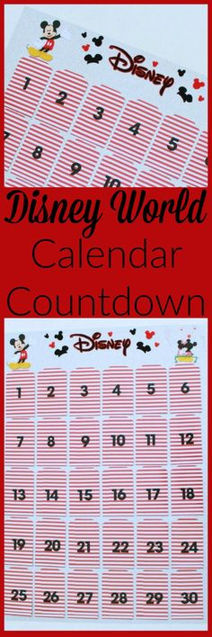 Disney World Calendar Countdown- This countdown is perfect for gearing up for your next Disney vacation. The kids will love it! www.momswithoutanswers.com