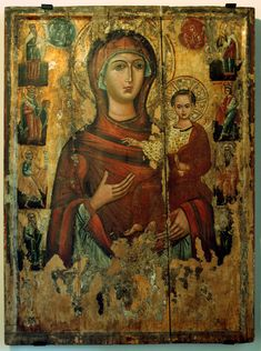 """God bless you"" -monastery of Saint Catherine in Sinai-Byzantine art Religious Images, Religious Icons, Religious Art, Paint Icon, Russian Icons, Byzantine Art, Madonna And Child, Orthodox Icons, Blessed Mother"