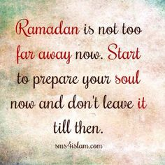 prepare for Ramadhan