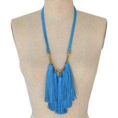 Tassel Necklace Aqua, 65€, now featured on Fab.