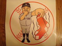 12 inch RED SOX STINK New York Yankees Wall Print (similar to a Fathead) from pantsdownshirtscom on Etsy. Yankees Team, Yankees Logo, New York Yankees, Yankees Baby, Baseball Scores, Pro Baseball, Softball, Mlb, Baseball Equipment