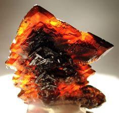 Descloizite spear-pointed crystals / Berg Aukas, Otjozondjupa Region, Namibia