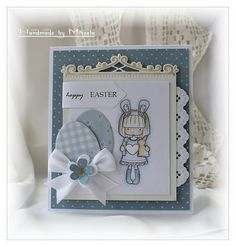 Handmade by Mihaela: Blue Easter card Happy Easter, Quilling, Frame, Easter Card, Blog, Cards, Handmade, Search, Card Designs