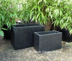 Large Black Terrazzo Tall Dividers Pot Planters | Woodside Garden Centre |  Pots To Inspire