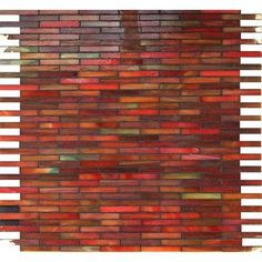 If I get new kitchen counter tops I would like to use this as the back splash.  Rainbow Glass Mosaic from Stone & Pewter Accents