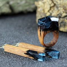 resin and wood jewelry