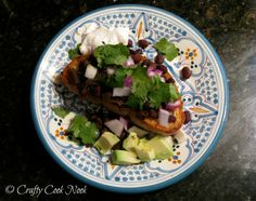 Smitten Kitchen's Black Bean Ragout with Cumin Crema and Garlicky Toasts (vegan and gluten-free options)