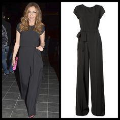"Despina Vandi wearing ""Despina Vandi for Chip & Chip"" black jumpsuit. Black Jumpsuit, Wrap Dress, Singer, Popular, Elegant, Greek, How To Wear, Outfits, Clothes"