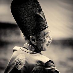 The priest of Shimogamo Yabusame festival, Japan