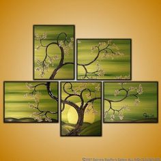 I absolutely love this!    CUSTOM PAINTING Abstract Modern Landscape Tree by GabrielaStauffer, $225.00